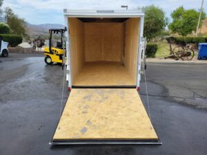 Pace Journey 6x12 V-NoseRamp - Rear view with ramp door open
