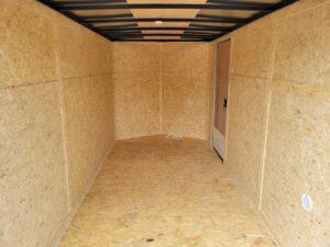 Pace Journey 6x12 V-NoseRamp - Closeup of rear cargo area