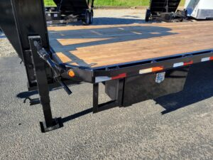 View of side step and tool box