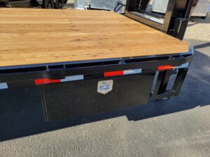 View of side tool/strap box