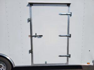View of side door closed