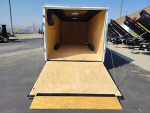 Pace Journey 8.5x24 10K - Rear viiew with ramp door open and transition down