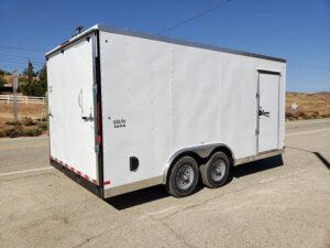 Big10 8x16 V-Nose 10K - Passenger side rear 3/4 view