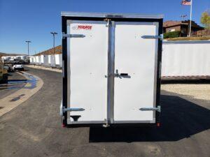 View of rear doors closed