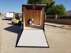Big10 6x10 V-Nose Ramp - Looking into rear through ramp door