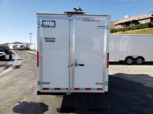 Big10 6x12 V-Nose D/D - Rear view doors closed
