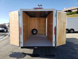 Big10 6x12 V-Nose D/D - Rear interior view through doors