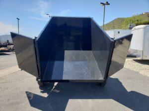 Five Star 6.5x10 10k Dump4ft - Rear view bed dumped