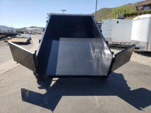 Five Star 6.5x10 7k Dump2ft - Rear view dump bed up