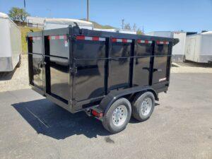 Five Star 6.5x10 7k Dump4ft - Passenger side rear 3/4 view bed down