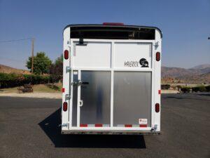 View of rear door closed