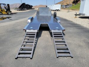 102 Ironworks Challenger 20ft10K - Rear view ramps out