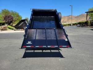 Snake River 6x10 Dutility Dump - Rear view bed dumped & gate secured up