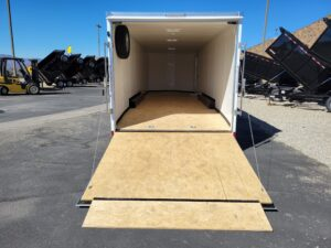 Pace Cargo Sport 8.5x28 15K - View from rear with ramp door open