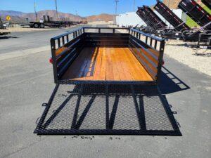 Texas Bragg 7x14 Panelwagon - Rear view ramp down