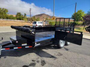 Snake River 6x12.6 Dutility Dump - View of side load door open