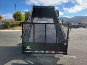 Rear view bed up with spreader gate activated