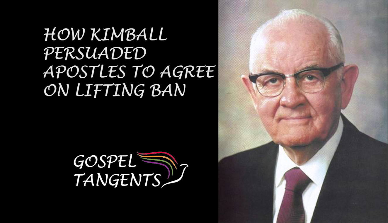 Pres. Kimball Announced a new temple in Brazil to get buy-in to help apostles understand why ban needed to be lifted.