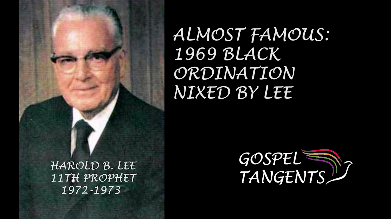 Lee strongly rejected attempts for black ordination