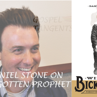 Dr. Daniel Stone wrote the First Biography of William BIckerton, prophet of the 3rd largest Mormon moveement.