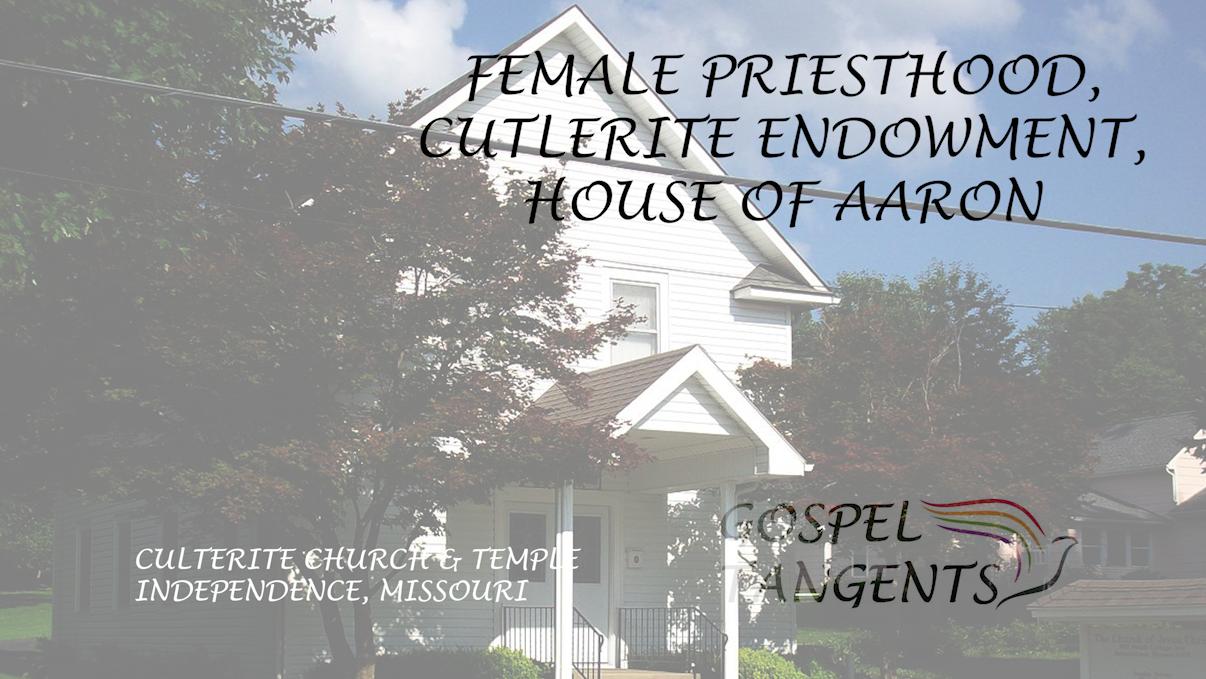 Steve Shields says Cutlerites have female priesthood, and we talk about House of Aaron in Eskdale, Utah