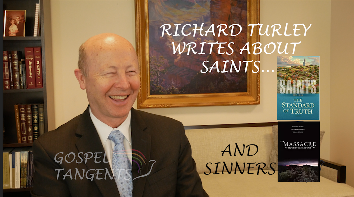 Richard Turley is not only an amazing historian but is Director of Public Affairs for the LDS Church.