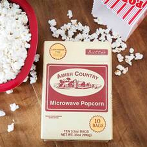 Amish Country Microwave Butter Popcorn ( 10 ) Single Packs