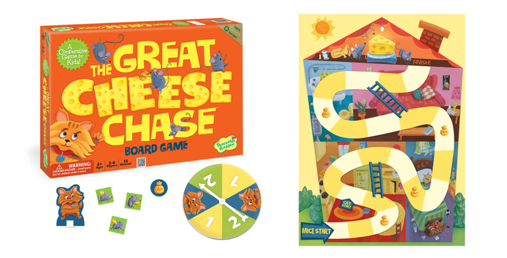 Peaceable Kingdom Great Cheese with game open_HR