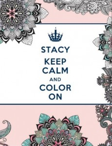 Keep Calm and Color On Book