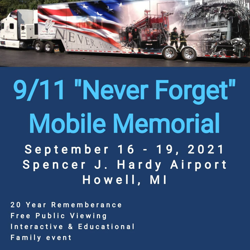 Connect Five Veterans Foundation 9-11 Mobile Memorial howell Michigan