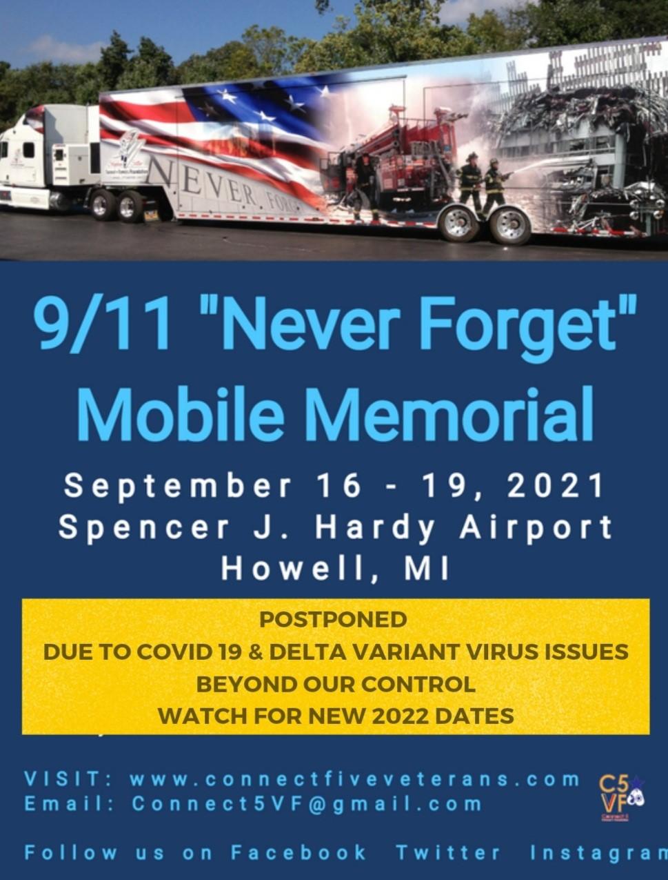 Connect five verterans livingston county 9-11 memorial
