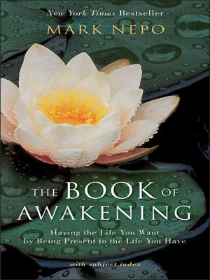 """This was a gift from my niece who I attended a short meditation retreat with. It has a different reading for each day of the year and is written by the poet Mark Nepo. It is my morning starter literally EVERY morning. I find that it starts out my morning routine by getting my """"mind set"""" right and in a positive direction. I'm still in my first year, and it could be a daily read for the rest of my life."""