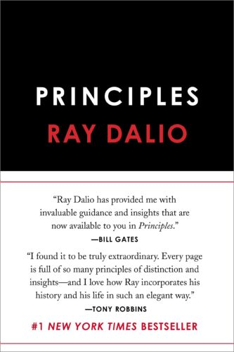 """Amazon Description: """"In 1975, Ray Dalio founded an investment firm, Bridgewater Associates, out of his two-bedroom apartment in New York City. Forty years later, Bridgewater has made more money for its clients than any other hedge fund in history and grown into the fifth most important private company in the United States, according to Fortune magazine. Dalio himself has been named to Time magazine's list of the 100 most influential people in the world. Along the way, Dalio discovered a set of unique principles that have led to Bridgewater's exceptionally effective culture, which he describes as """"an idea meritocracy that strives to achieve meaningful work and meaningful relationships through radical transparency."""" It is these principles, and not anything special about Dalio—who grew up an ordinary kid in a middle-class Long Island neighborhood—that he believes are the reason behind his success.""""My thoughts: Amazing piece of work that requires dedication and discipline to finish. I learned the terms """"Radical Transparency"""" and """"Radical Honesty"""" from this book and they have served me well. I loved this book, and it is a challenging read. You have to really want it to read it, and if you make it thru you will cherish it."""