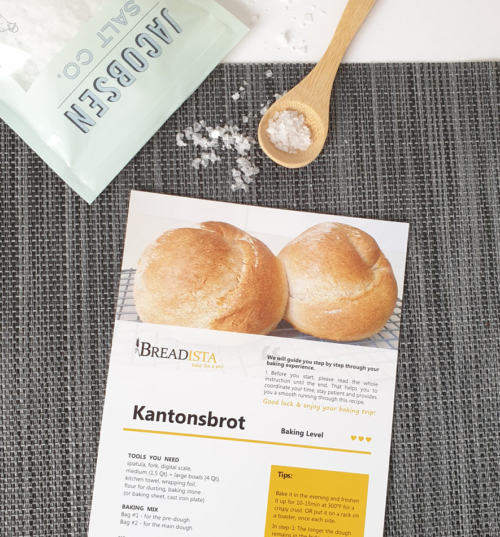 Traditional Bread Baking Mix - instruction card