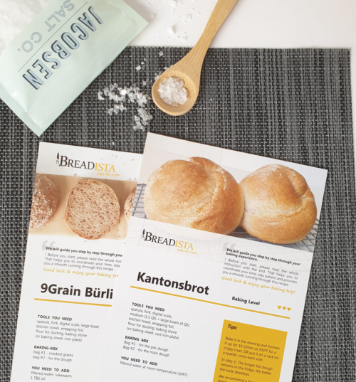 9Grain Rolls and Bread Baking Mix - instruction cards