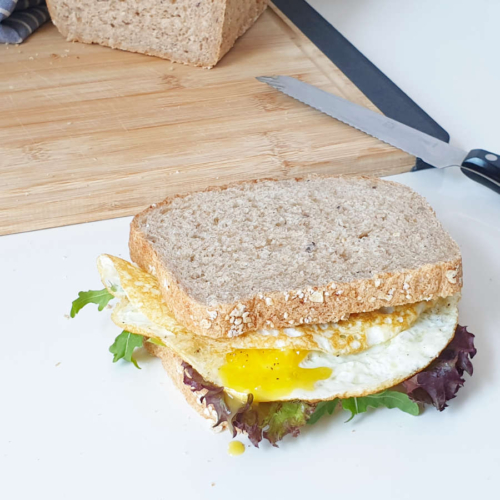 Serving Suggestion: Fried Egg Sandwiches with seeded Kastenbrot