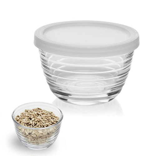 small glass jar with lid