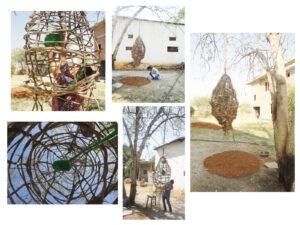 """Drawing Space' installation work at Banyan Hearts Studio in Kismatpura, Hyderabad."