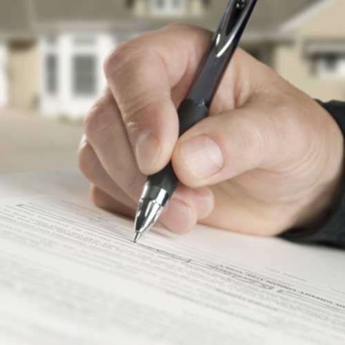 person signing contract