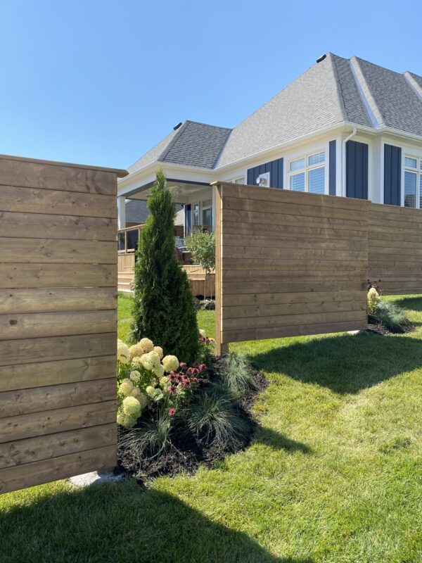 Privacy Fence with Perrenial Gardens