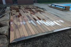 Terrasse pour piscine en ipé