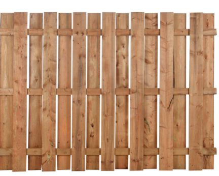 Clôture en bois traité brun