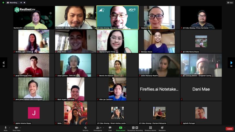 Choosing Resilience  Leaders with JCI Cebu Sinulog