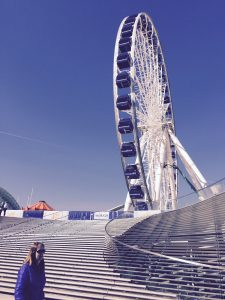 Navy Pier, always a fun destination, adds art appeal this weekend as it hosts EXPO Chicago. Photo by Jodie Jacobs