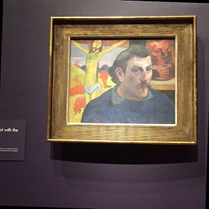 """Paul Gauguin, """"Self Image with Yellow Christ."""" Photo by Jodie Jacobs"""