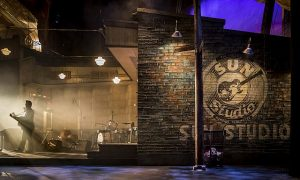 Chicago set designer Kevin Depinet has recreated Sam Phillips's original Sun Records studio in Memphis - where Elvis Presley, Johnny Cash, Jerry Lee Lewis and Carl Perkins played together their first and only time. Liz Lauren photo