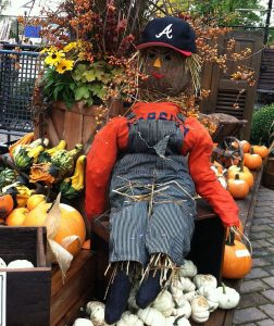 Make your own scarecrow at the St. Charles Scarecrow Festival or at the Chalet Nursery in Wilmette. (Jodie Jacobs photo taken at the Chalet)