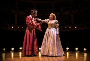 Dion Johnstone (Ira Aldridge) as Othello and Chaon Cross (Ellen Tree) as Desdemona (Photo by Liz Lauren)