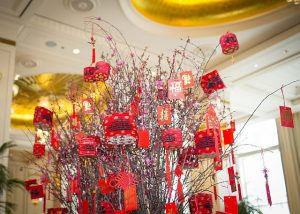 The Peninsula Chicago is decked out for Chinese New Year.