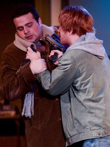 Dorian Gray (Javier Ferreira) and James Vane (Ryan Leonard) in  The Picture of Dorian Gray. Steve Graue photo